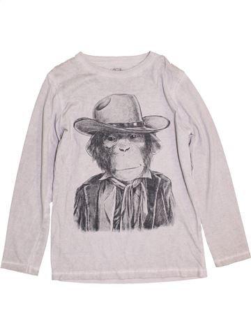 T-shirt manches longues garçon ZARA blanc 8 ans hiver #1430057_1