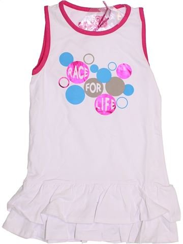 Robe fille RACE FOR LIFE blanc 6 ans été #1430159_1