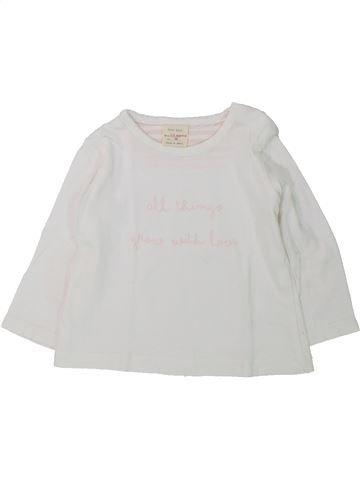 T-shirt manches longues fille ZARA blanc 6 mois hiver #1430223_1