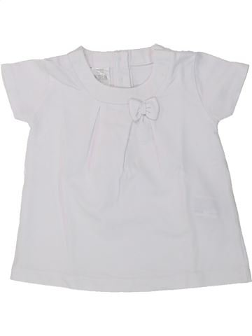 T-shirt manches courtes fille ZARA blanc 9 mois été #1430374_1