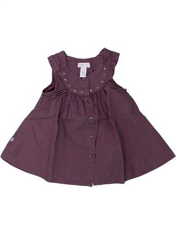 Blouse manches courtes fille OKAIDI violet 3 mois été #1430382_1