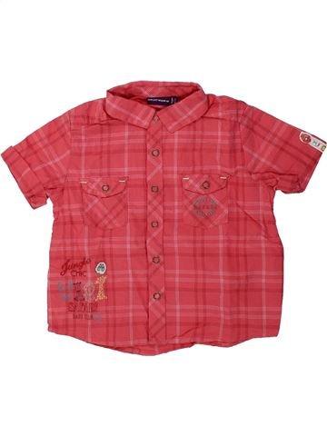 Chemise manches courtes garçon SERGENT MAJOR rouge 18 mois été #1430450_1