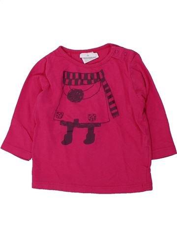 T-shirt manches longues fille KIABI rose 6 mois hiver #1430719_1