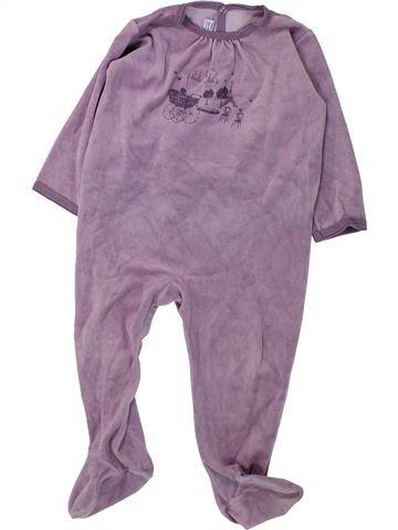 Pyjama 1 pièce fille PETIT BATEAU violet 2 ans hiver #1430858_1
