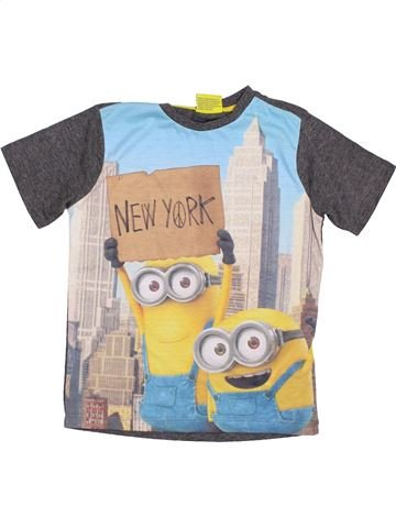 T-shirt manches courtes garçon LES MINIONS blanc 7 ans été #1430916_1