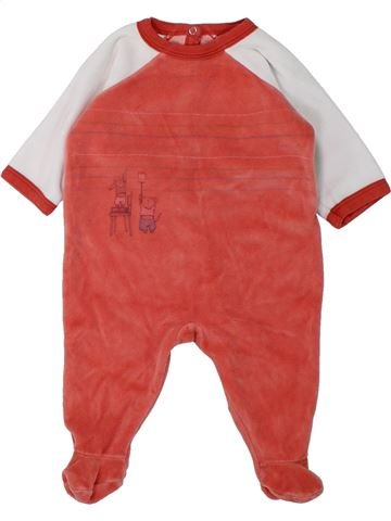 Pyjama 1 pièce garçon PETIT BATEAU rouge 3 mois hiver #1431050_1