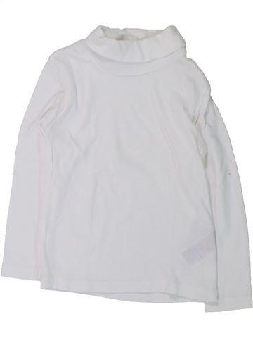 T-shirt col roulé fille DÉCATHLON blanc 3 ans hiver #1431387_1