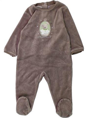 Pyjama 1 pièce garçon ABSORBA marron 9 mois hiver #1431430_1