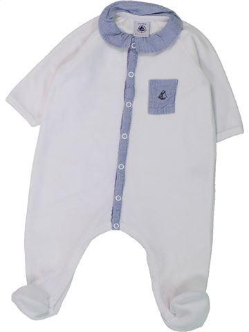 Pyjama 1 pièce garçon PETIT BATEAU blanc 3 mois hiver #1431432_1