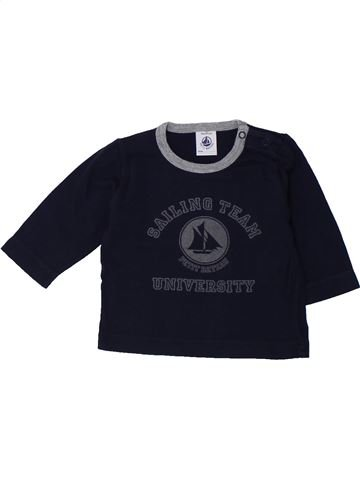 T-shirt manches longues garçon PETIT BATEAU noir 3 mois hiver #1431437_1
