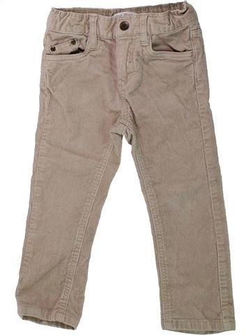 Pantalon fille LISA ROSE beige 3 ans hiver #1431476_1