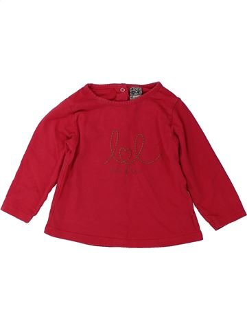 T-shirt manches longues fille TAPE À L'OEIL rouge 12 mois hiver #1431550_1