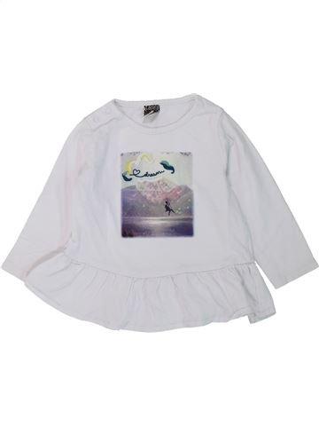 Camiseta de manga larga niña TAPE À L'OEIL blanco 12 meses invierno #1431561_1