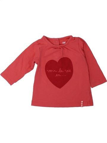 Camiseta de manga larga niña DPAM rojo 3 meses invierno #1431572_1