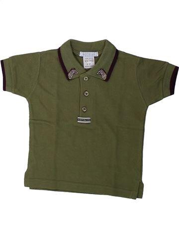 Polo de manga corta niño NATALYS verde 6 meses verano #1431632_1