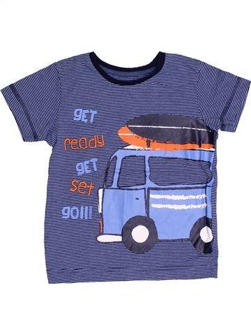 T-shirt manches courtes garçon MARKS & SPENCER bleu 3 ans été #1431702_1