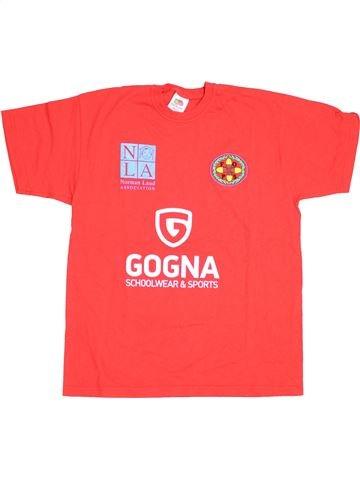 T-shirt manches courtes garçon FRUIT OF THE LOOM rouge 13 ans été #1431787_1