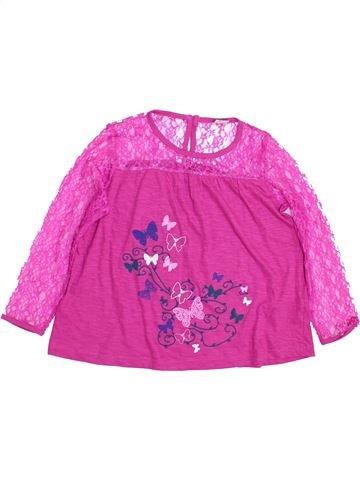 T-shirt manches longues fille KIKI& KOKO rose 8 ans hiver #1431830_1