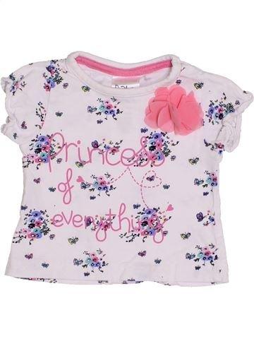 T-shirt manches courtes fille BABY blanc 3 mois été #1431839_1