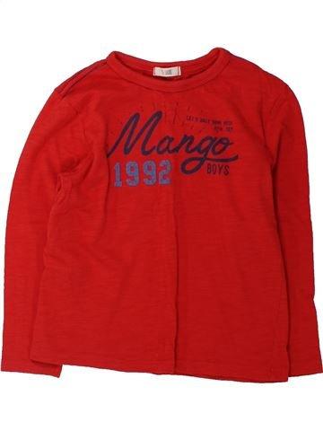 T-shirt manches longues garçon MANGO rouge 5 ans hiver #1431909_1