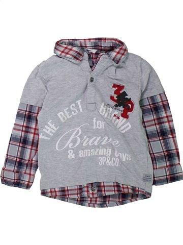 Camiseta de manga larga niño 3 POMMES gris 3 años invierno #1431987_1