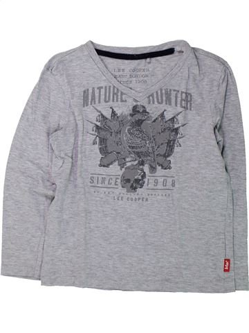 T-shirt manches longues garçon LEE COOPER gris 8 ans hiver #1432142_1