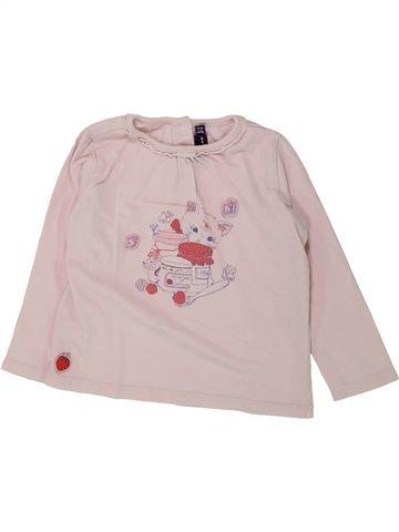 T-shirt manches longues fille SERGENT MAJOR rose 18 mois hiver #1432170_1