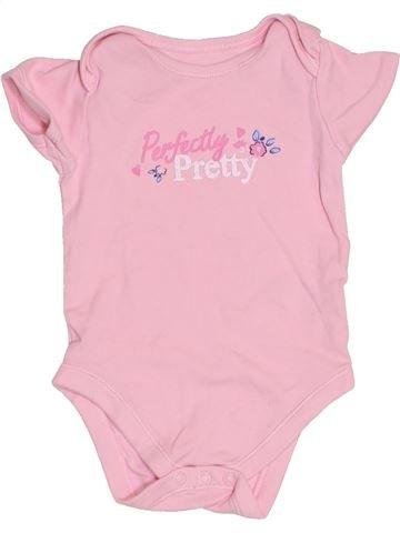 T-shirt manches courtes fille GEORGE rose 12 mois été #1432177_1
