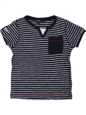 T-shirt manches courtes garçon KIABI bleu foncé 4 ans été #1432224_1
