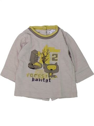 T-shirt manches longues garçon KIABI gris 3 mois hiver #1432341_1