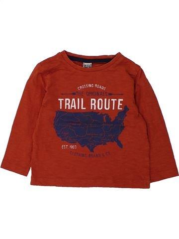 T-shirt manches longues garçon TAPE À L'OEIL rouge 2 ans hiver #1432648_1