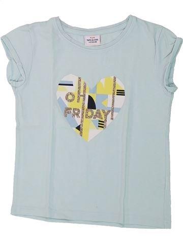 T-shirt manches courtes fille TAPE À L'OEIL gris 4 ans été #1432664_1