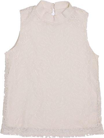 Camiseta de cuello alto niña RIVER ISLAND blanco 10 años invierno #1432870_1