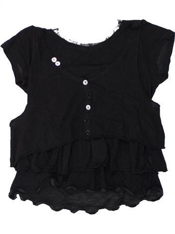 T-shirt manches courtes fille DDP noir 12 ans été #1432886_1