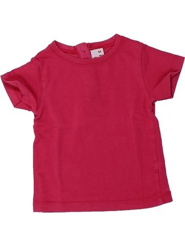 T-shirt manches courtes fille DPAM rouge 18 mois été #1432950_1