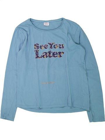 T-shirt manches longues fille TAPE À L'OEIL bleu 14 ans hiver #1432981_1