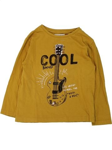 T-shirt manches longues garçon ZARA jaune 6 ans hiver #1433043_1