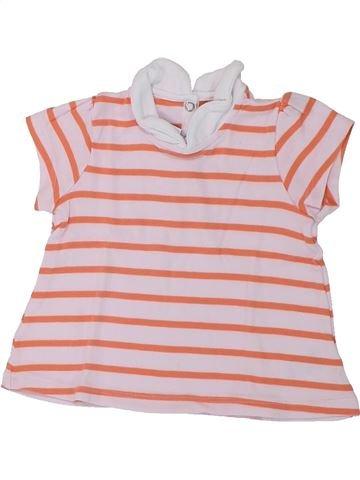 Polo de manga corta niña PETIT BATEAU rosa 18 meses verano #1433052_1