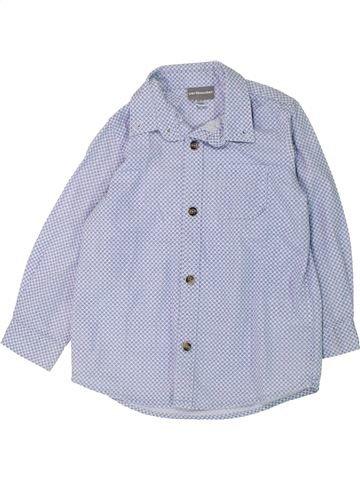 Chemise manches longues garçon VERTBAUDET bleu 3 ans hiver #1433124_1