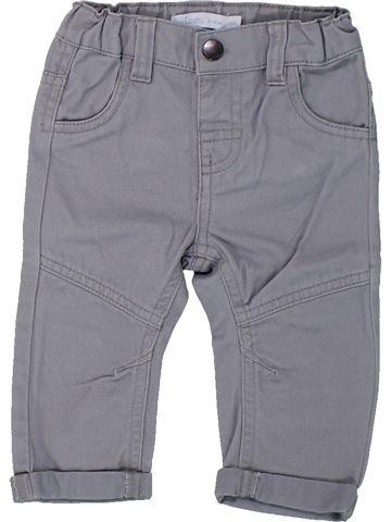 Pantalon garçon GEMO gris 6 mois hiver #1433146_1
