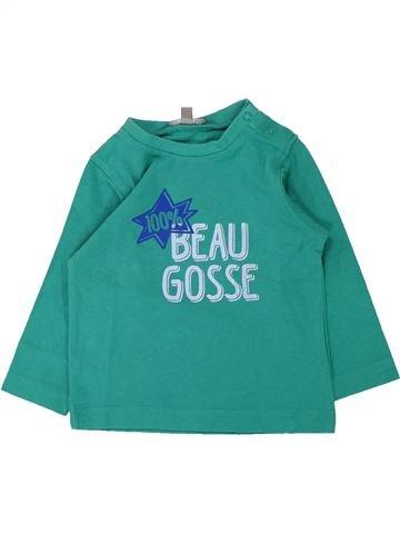 T-shirt manches longues garçon GRAIN DE BLÉ vert 6 mois hiver #1433215_1