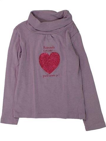 T-shirt col roulé fille VERTBAUDET gris 4 ans hiver #1433224_1