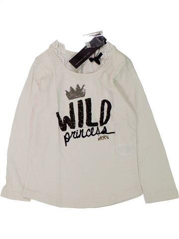 Camiseta de manga larga niña IKKS blanco 3 años invierno #1433232_1
