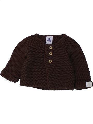 Chaleco niño PETIT BATEAU marrón 0 meses invierno #1433308_1