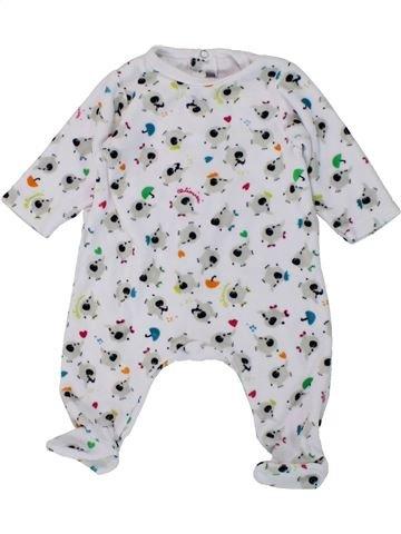 Pijama de 1 pieza niño CATIMINI blanco 3 meses invierno #1433319_1