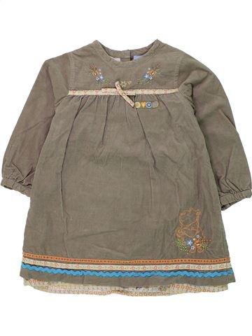 Vestido niña DISNEY marrón 3 años invierno #1433405_1