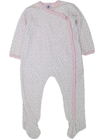 Pijama de 1 pieza niña PETIT BATEAU blanco 3 años invierno #1433591_1