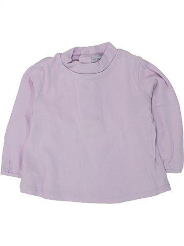 Camiseta de manga larga niña NATALYS violeta 6 meses invierno #1433625_1