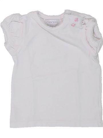 T-shirt manches courtes fille OKAIDI gris 3 mois été #1433632_1