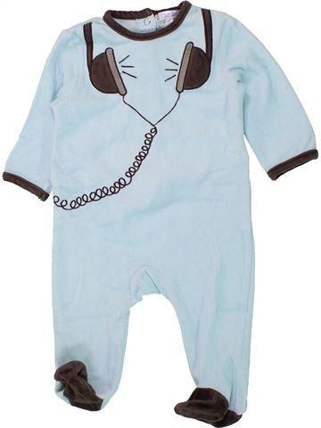 Pijama de 1 pieza unisex KIABI azul 6 meses invierno #1433817_1